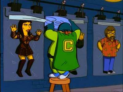 The Collector, a villain alter-ego of Comic Book Guy from Treehouse of Horror X, episode 4 of season 11 of The Simpsons.