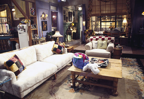 Monica Geller's living room from the television show 'Friends'.