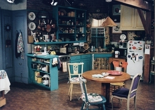 Monica Geller's kitchen from the television show Friends.